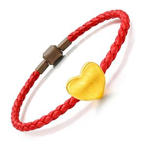 3D硬金-拉丝心手链