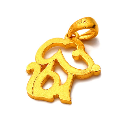 克拉千足黄金动物吊坠—可爱小老鼠钻戒价格