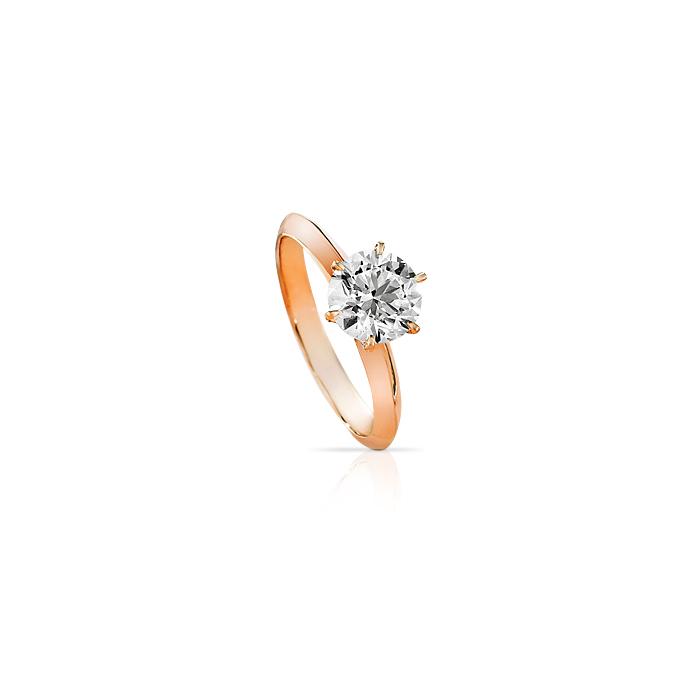 英皇珠宝钻戒/18k玫瑰金钻石戒指