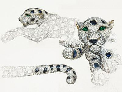 isabella rey创作的水彩画 猎豹设计图图片