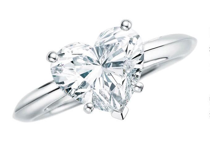 蒂芙尼心形钻石戒指戒指
