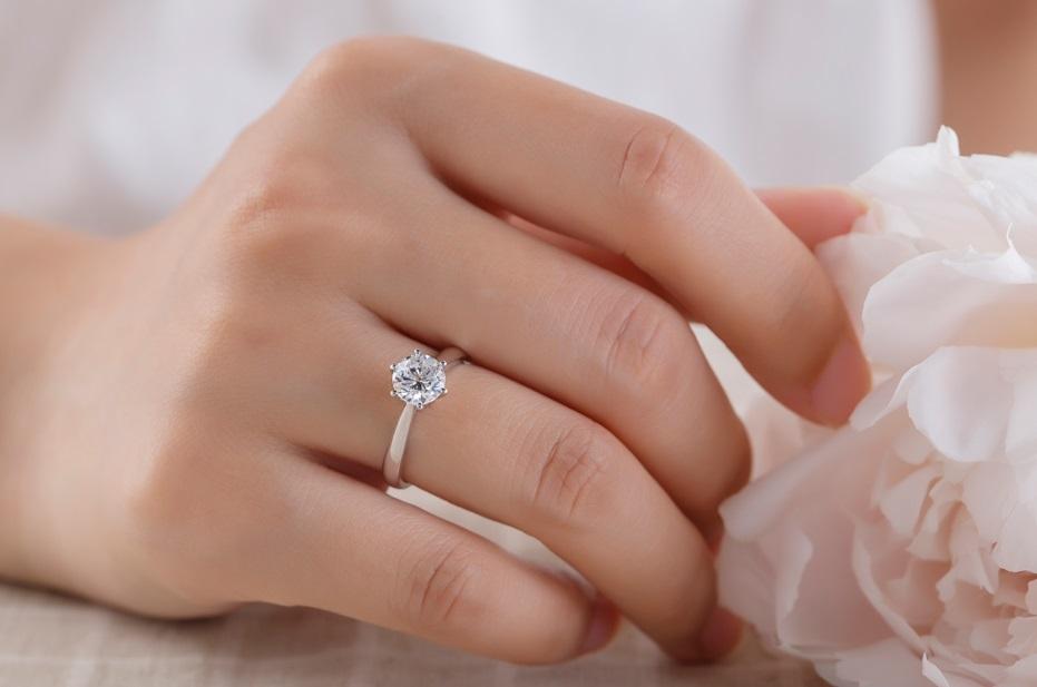 所以很多人对于戒指所戴的位置会慎重选择,左手还是右手,食指还是中指图片