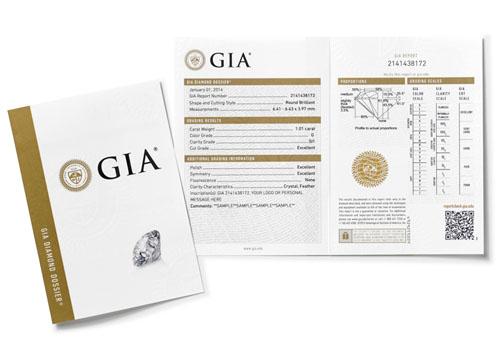 GIA钻石鉴定精简版证书