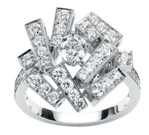 个性十足的钻石戒指 大牌个性珠宝