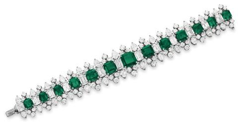 Bvlgari宝格丽祖母绿钻石手链