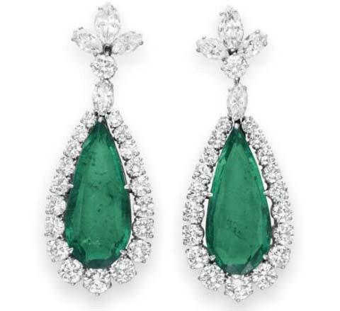 Bvlgari宝格丽祖母绿钻石耳环