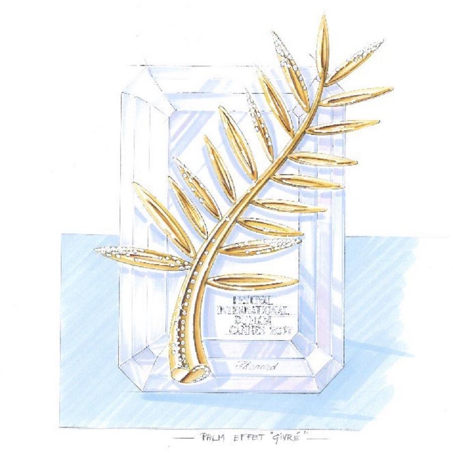 chopard萧邦可以第70届戛纳电影节金棕榈网站:镶钻的棕榈叶新世界谁有公布看电影的奖杯图片