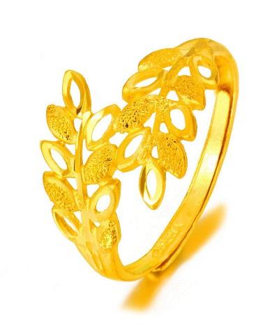 女式黄金戒指款式价格图片介绍图片